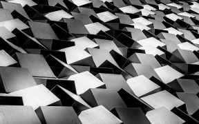 Image of a sea of abstract grey cubes for The Future is History blog post