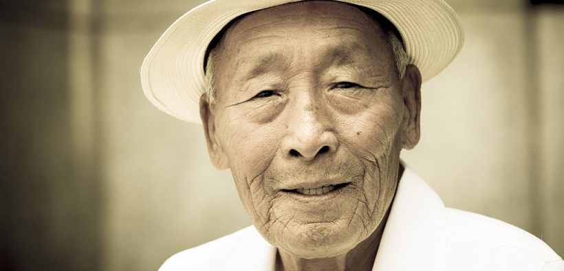 Image of an elderly Asian man for The Silver Lining Opportunities in Aging Asia blog post