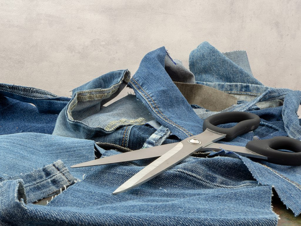 Image of shredded jeans for What If the Internet of Things Facilitated the Development of a Circular Economy blog post