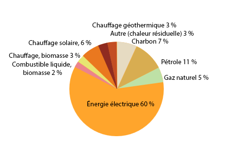 Part de l'électricité au sein de la consommation finale d'énergie