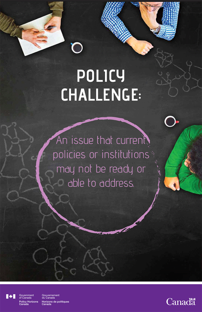 Policy Challenge: An issue that current policies or institutions may not be ready or able to address