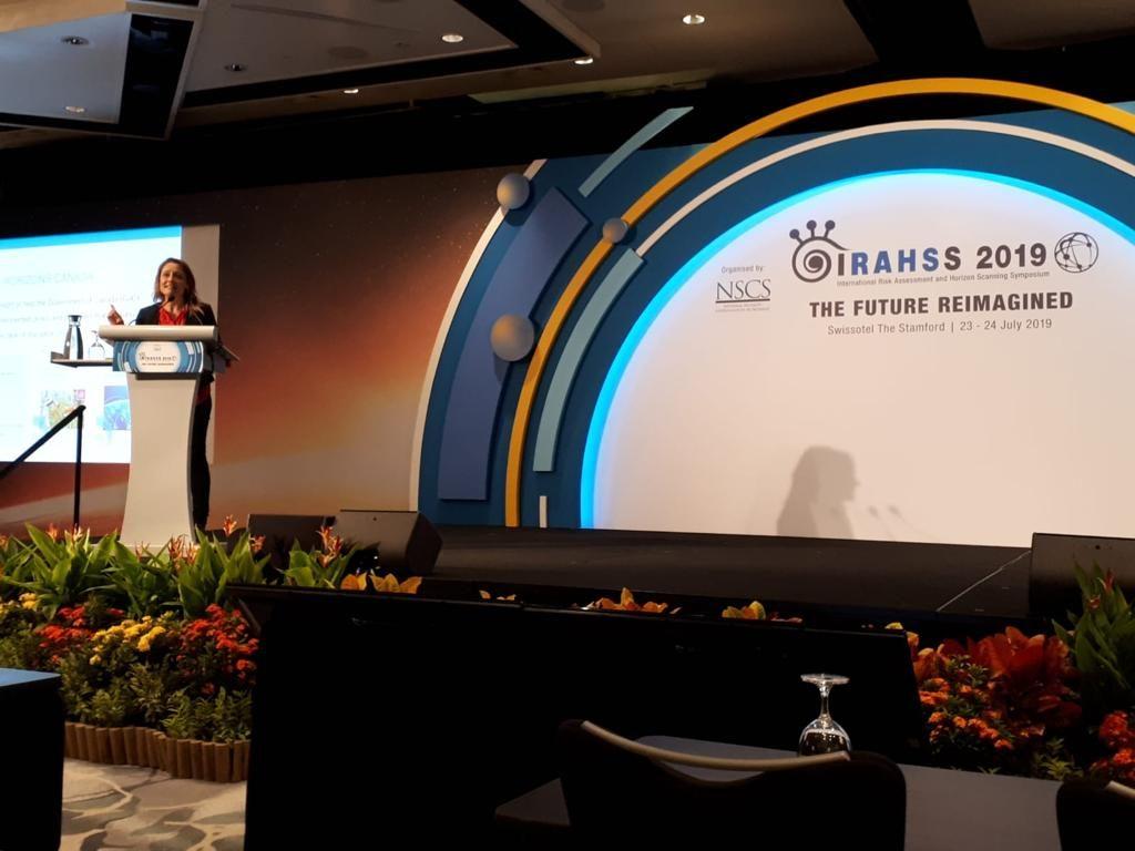 Kristel van der Elst presenting at IRAHSS 2019